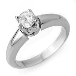 0.50 CTW Certified VS/SI Diamond Ring 14K White Gold - REF-79K3R - 10129