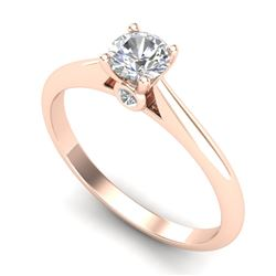 0.40 CTW VS/SI Diamond Solitaire Art Deco Ring 18K Rose Gold - REF-58W2H - 37278