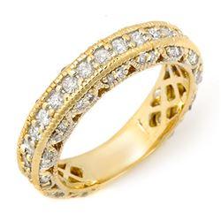1.10 CTW Certified VS/SI Diamond Band 14K Yellow Gold - REF-102K8R - 11744