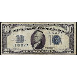 1934 $10 Silver Certificate Note