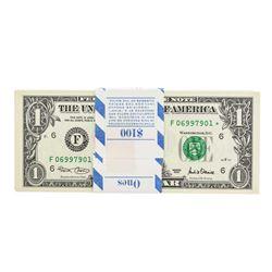 Pack of (100) Consecutive 2001 $1 Federal Reserve Star Notes Atlanta