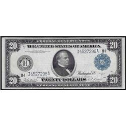 1914 $20 Federal Reserve Note Blue Seal