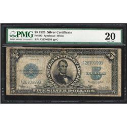 1923 $5 Porthole Silver Certificate Note PMG Very Fine 20