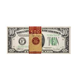 Pack of (50) Consecutive 1934C $10 Federal Reserve Notes Atlanta Uncirculated