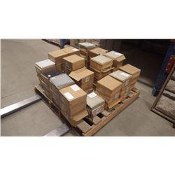 """7 1/2"""" X 7 1/2"""" GLASS WALL TILES IN GREY, 83 PCS, WHITE, 165 PCS, MATTE BEIGE 14 PCS, MATTE GREY 82"""