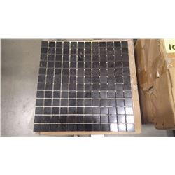 "12"" X 12"" BLACK LIMESTONE MOSAIC POLISHED 1"" X 1"", 50 PCS"