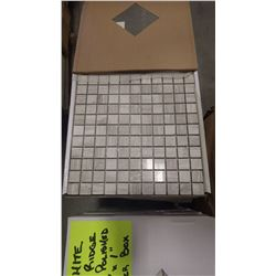 "12"" X 12"" WHITE WOOD RIDGE MOSAIC POLISHED 1"" X 1"", 50 PCS"