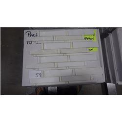 "12"" X 12"" IMPERIAL WHITE MOSAIC POLISHED, 51 PCS"