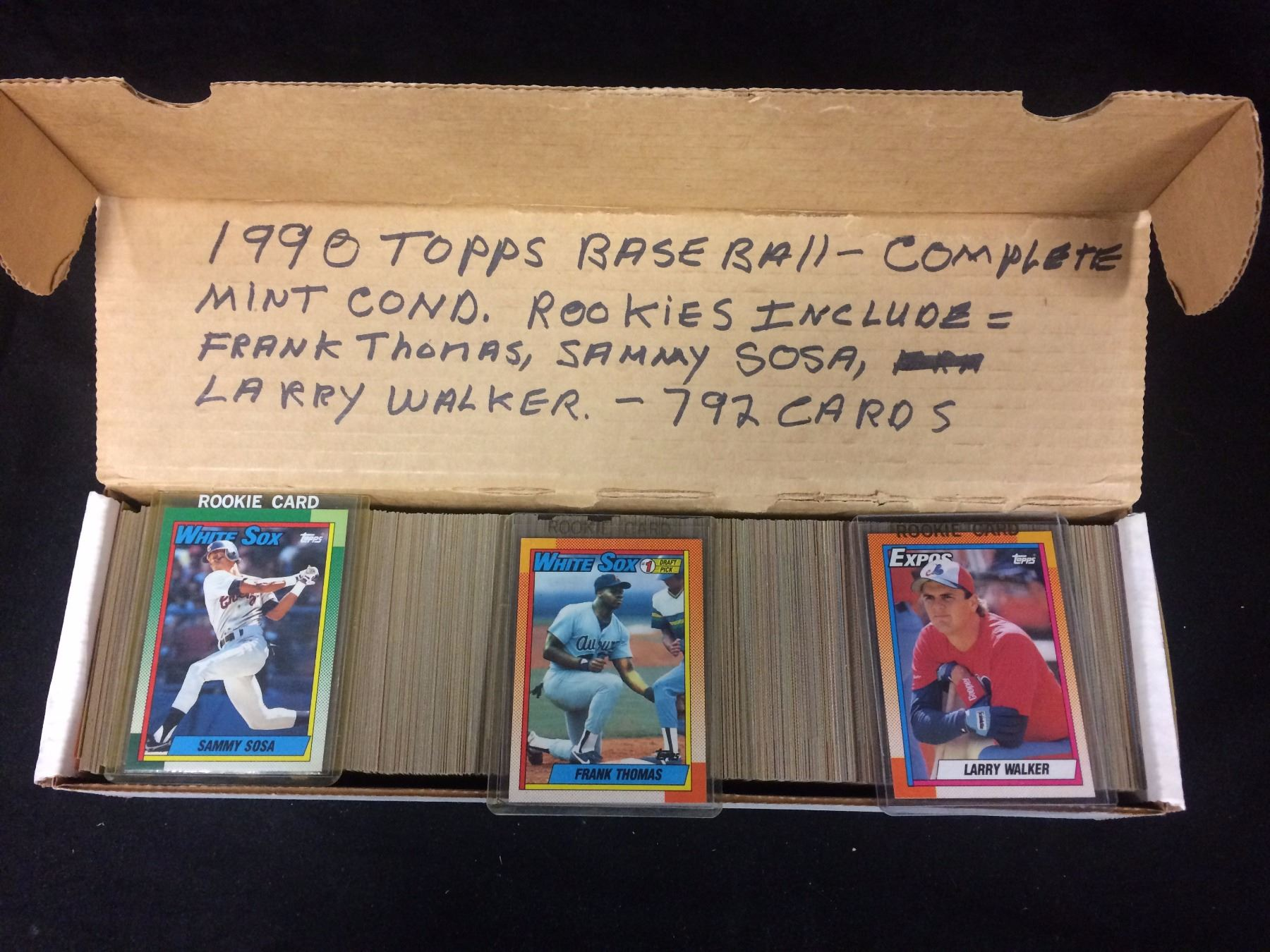 1990 Topps Baseball Cards Complete Set Mint Condition 792 Cards