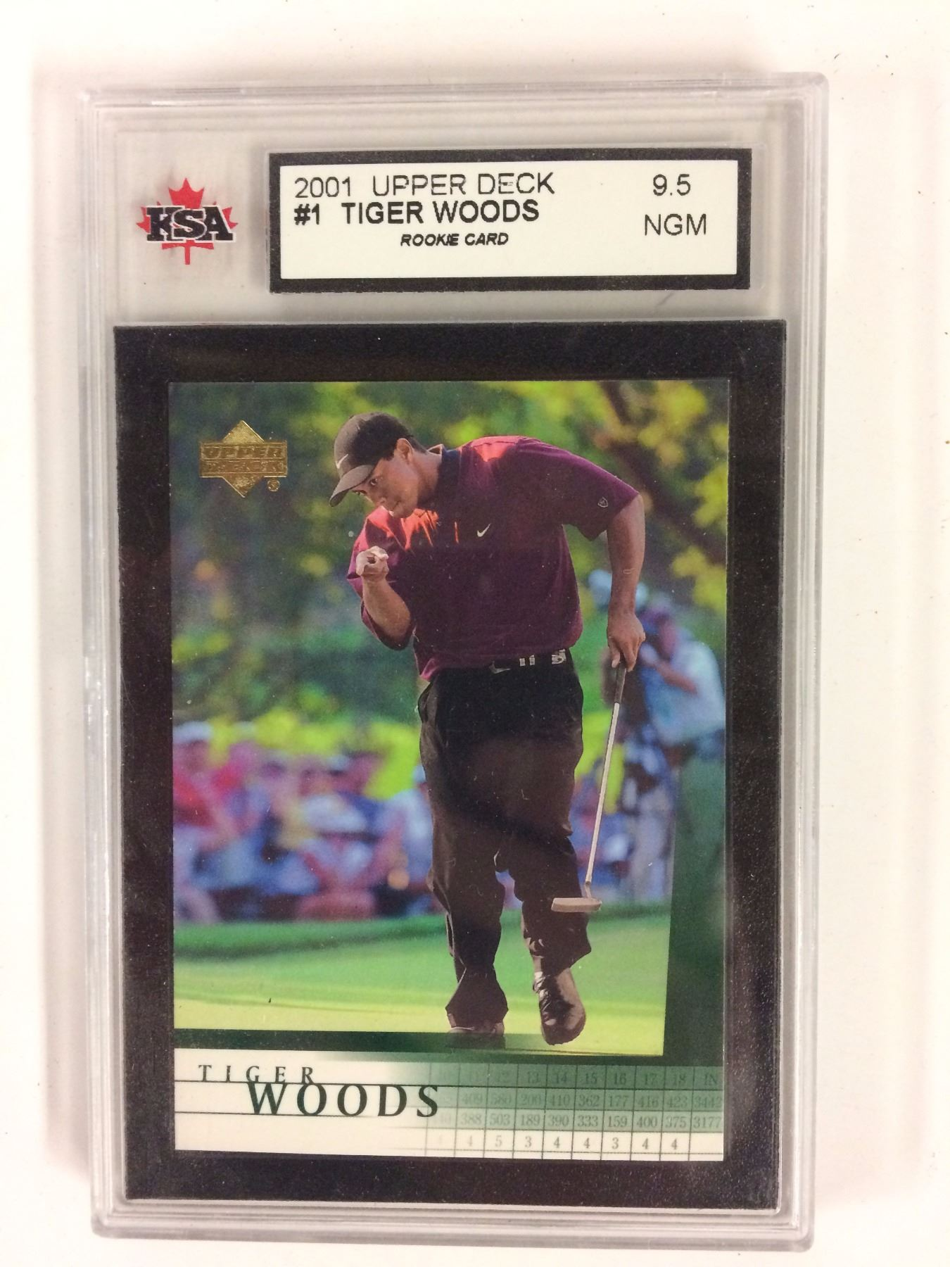 2001 Upper Deck 1 Tiger Woods Rookie Card 95 Ngm Ksa