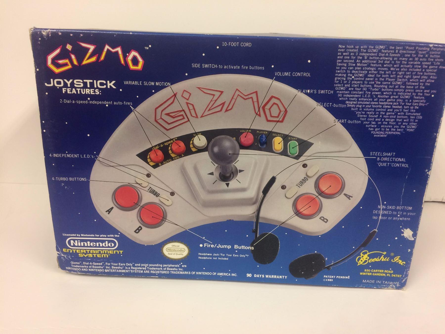 Gizmo Arcade Joystick Controller (NES Nintendo)