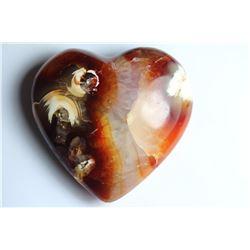 Natural Colorful Carnelian Heart 225 Carats