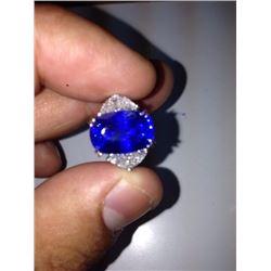 Stunning Natural kashmir Sapphire  - Gubelin
