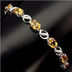 Natural Yellow Citrine 44 Carats Bracelet