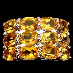 Natural  Yellow Citrine 35 Carats Ring