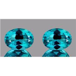 Natural Apatite Paraiba Blue Pair 7 x 5 mm - VVS