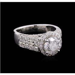 2.84 ctw Diamond Ring - 14KT White Gold
