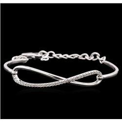 0.33 ctw Diamond Bracelet - 14KT White Gold