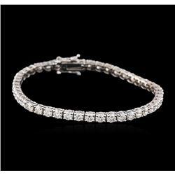 14KT White Gold 6.05 ctw Diamond Tennis Bracelet