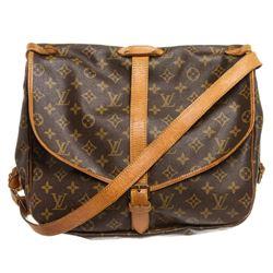 Louis Vuitton Monogram Canvas Leather Saumur 35 cm Messenger Bag