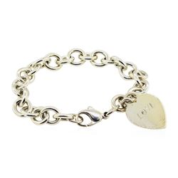 Tiffany and Company Heart Charm Bracelet - Sterling Silver