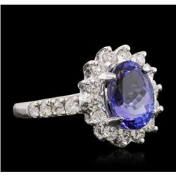 14KT White Gold 2.43 ctw Tanzanite and Diamond Ring