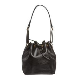 Louis Vuitton Black Epi Leather Noe PM Drawstring Shoulder Bag