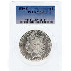 1880-S PCGS MS64 Morgan Silver Dollar