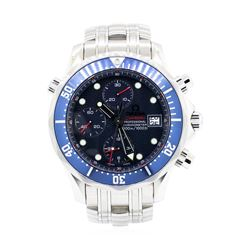 Omegas Stainless Steel Men's Seamaster Wristwatch