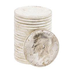Roll of (20) 1964-D Brilliant Uncirculated Franklin Half Dollar Coins
