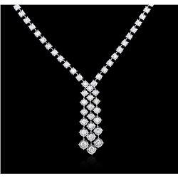 14KT White Gold 1.90 ctw Diamond Necklace