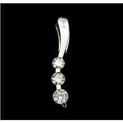 1.00 ctw Diamond Pendant - 14KT White Gold