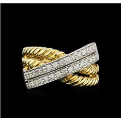 0.75 ctw Diamond Ring - 14KT Two-Tone Gold