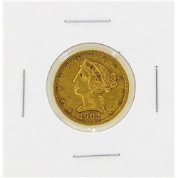 1903S $5 Liberty Head Gold Coin