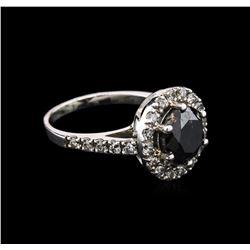 3.95 ctw Black Diamond Ring - 14KT White Gold