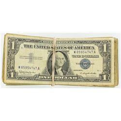 (100) 1957 $1 Silver Certificates