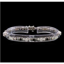 14KT White Gold 2.71 ctw Diamond Bracelet