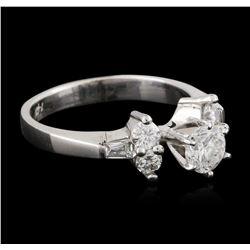 14KT White Gold 0.73 ctw Diamond Ring