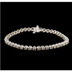 4.82 ctw Fancy Brown Diamond Tennis Bracelet - 14KT White Gold