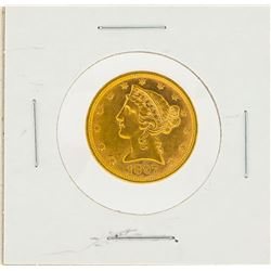 1897 $5 AU Liberty Head Half Eagle Gold Coin