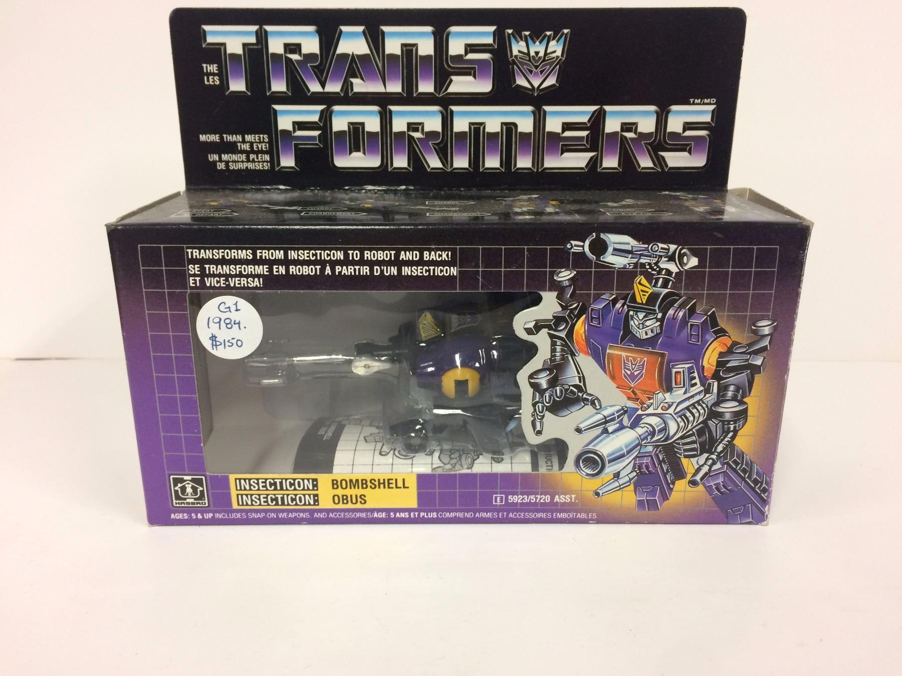 Vintage Transformers G1 1984 Tech Specs Décodeur