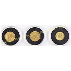 3 set Princess head $1 gold coins includes 1851,1855 and 1874.