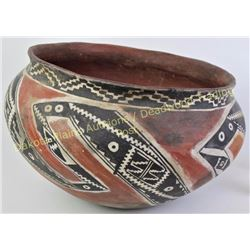 """Large nicely accomplished South West Tonto dough bowl by Bill Freeman, 1927-2012, 14"""" diameter X 9 1"""