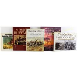 Collection of 5 reference Western Art books, includes Paintings of the Old American West by Charles