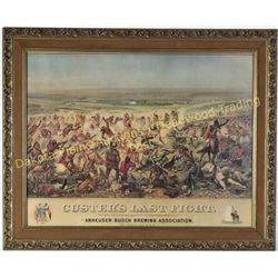 """Nicely framed print of Custers Last Fight image 20"""" X 26"""".  Est. 100-175"""