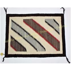 """Fred Harvey Navajo rug 23"""" X 30"""" showing very good condition, weaver identified as Grace Yazzie on o"""