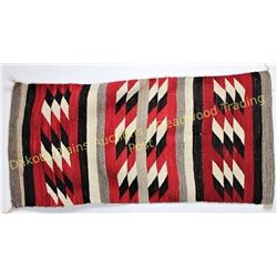 """Early classic Navajo rug 29"""" X 60"""", shows very good condition, NO loss, staining or major bleed.  Es"""