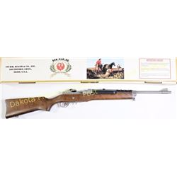 """Ruger Mini 14 Ranch Rifle .223 cal. SN 19592315 semi auto rifle with 18"""" barrel, wood stock and stai"""