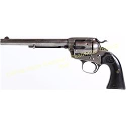 """Colt Bisley .32 WCF SN 298790 single action 7 1/2"""" barrel blue finish and hard rubber checkered grip"""