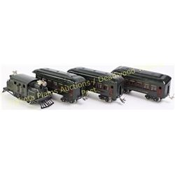 Lionel Opauge electric train New York  Central Line, includes engine and 3 cars, all very good and o